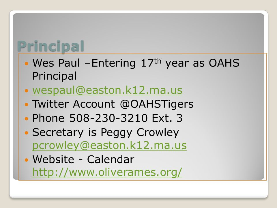 oliver ames high school - ppt download, Presentation templates
