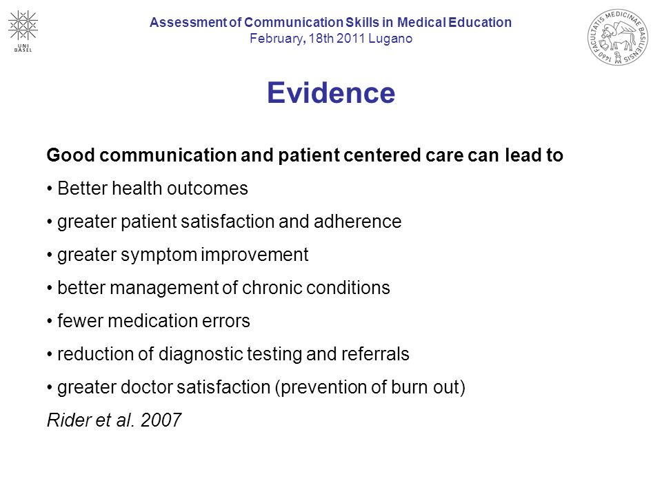 communication skills reflection patient interaction Interactive reflective writing (student writer/faculty feedback provider dyad),   faculty team comprised of a physician and a social-behavioral scientist  of  interviewing skills, inspiring or difficult interactions with patients, and.