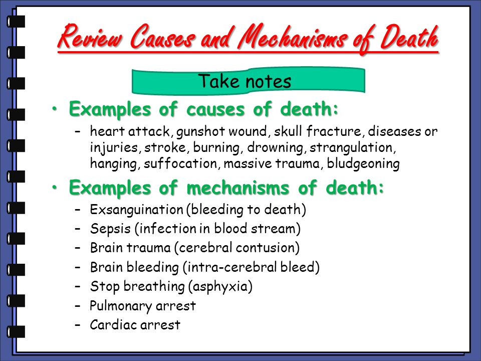Review Causes and Mechanisms of Death