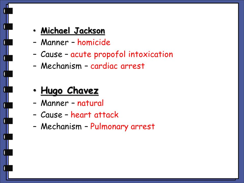 Hugo Chavez Michael Jackson Manner – homicide