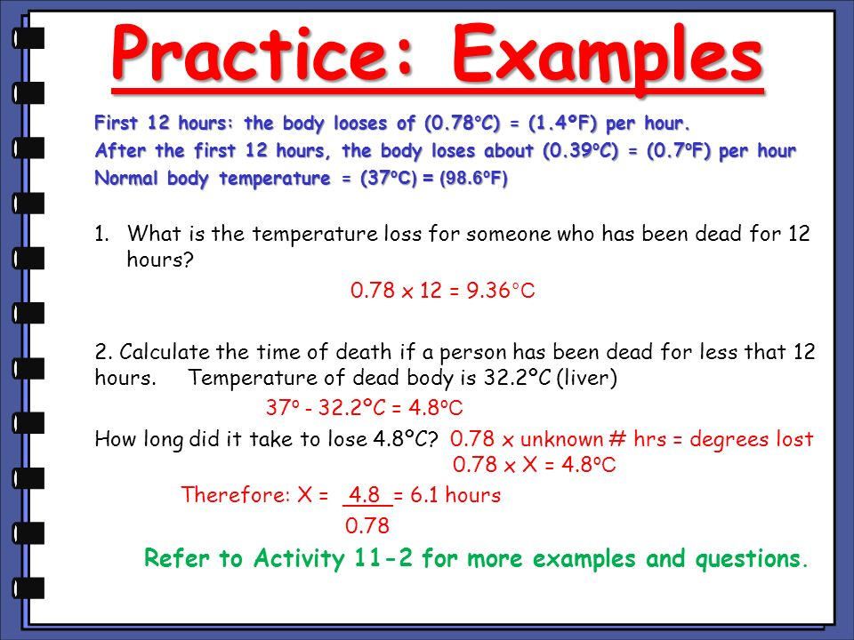 Refer to Activity 11-2 for more examples and questions.