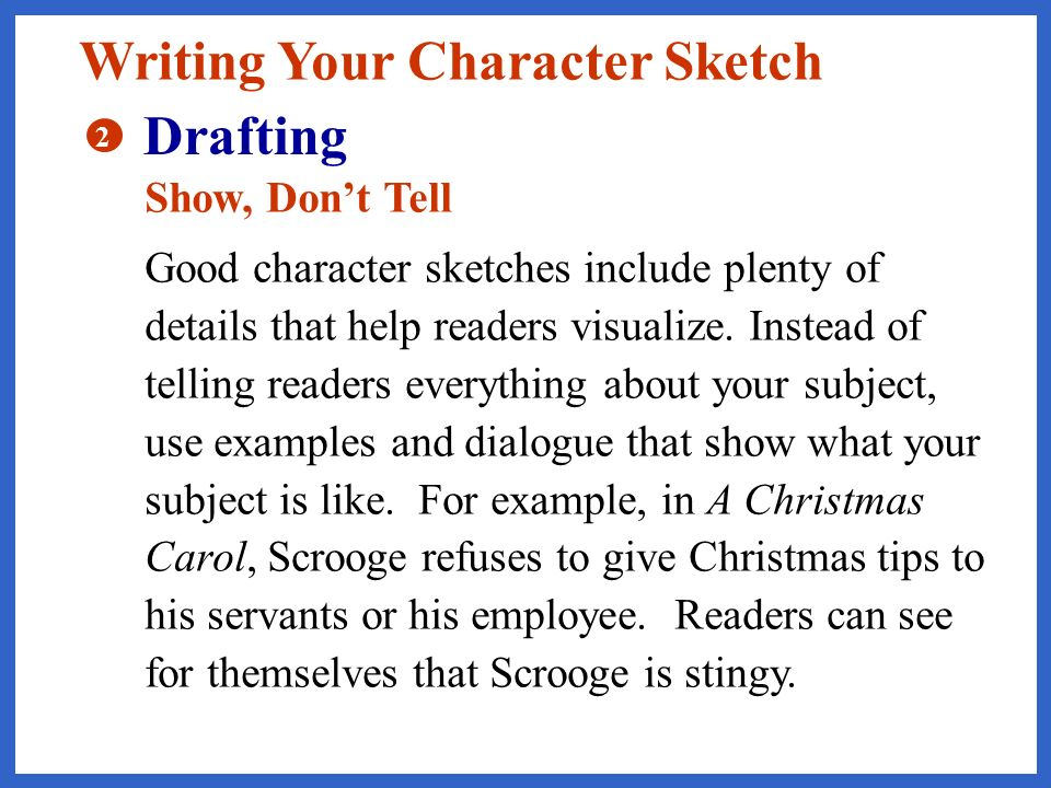 example of character sketch essay co example