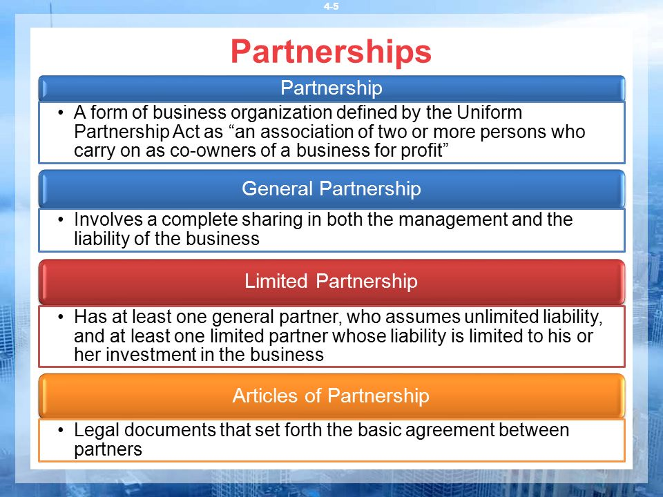 The Uniform Partnership Act 14