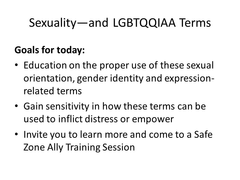 Gender And Sexuality Terms