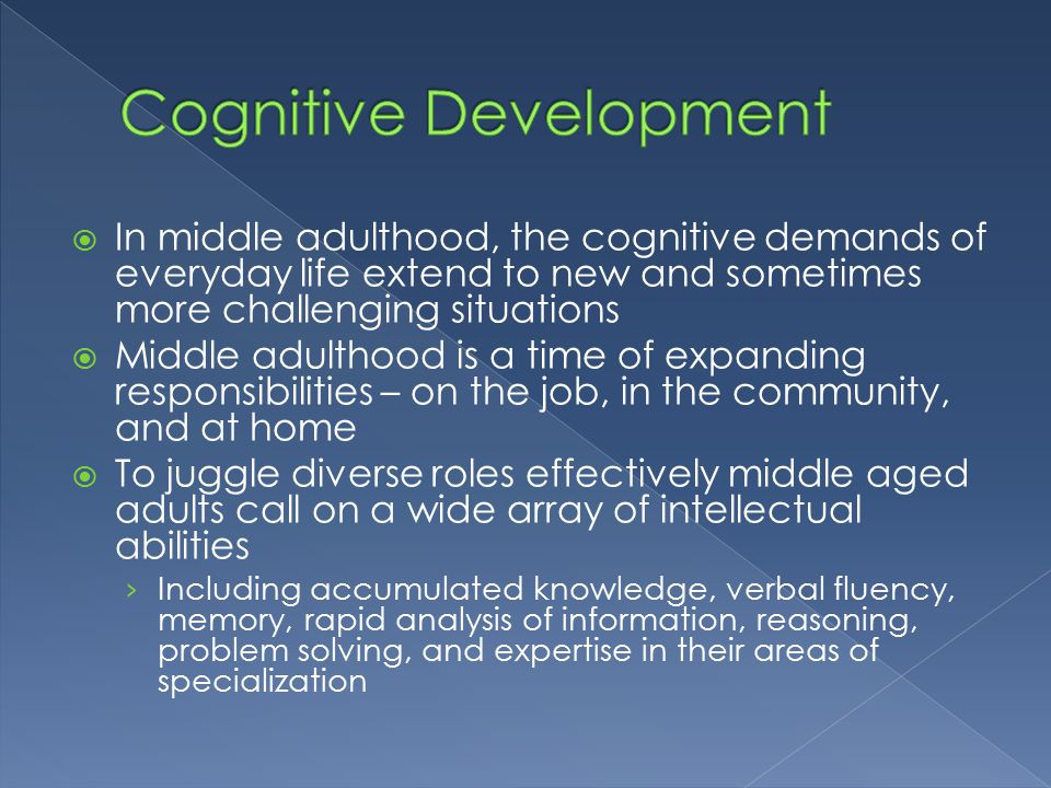 cognitvie development