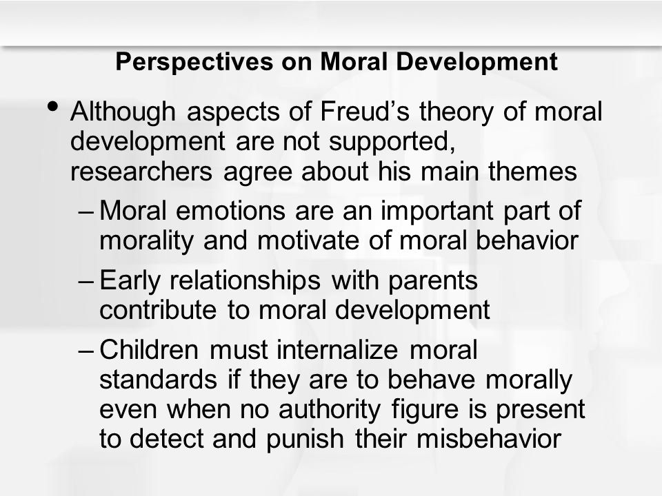 the major influence of parents on the moral development of their children In fact, there are psychologists who focus more on cognitive (mental)  development (lawrence kohlberg and piaget) as the primary factor that  influences moral.