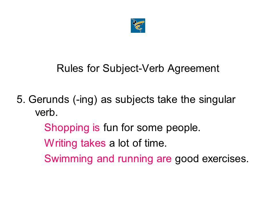 30 rules in subject verb agreement with examples