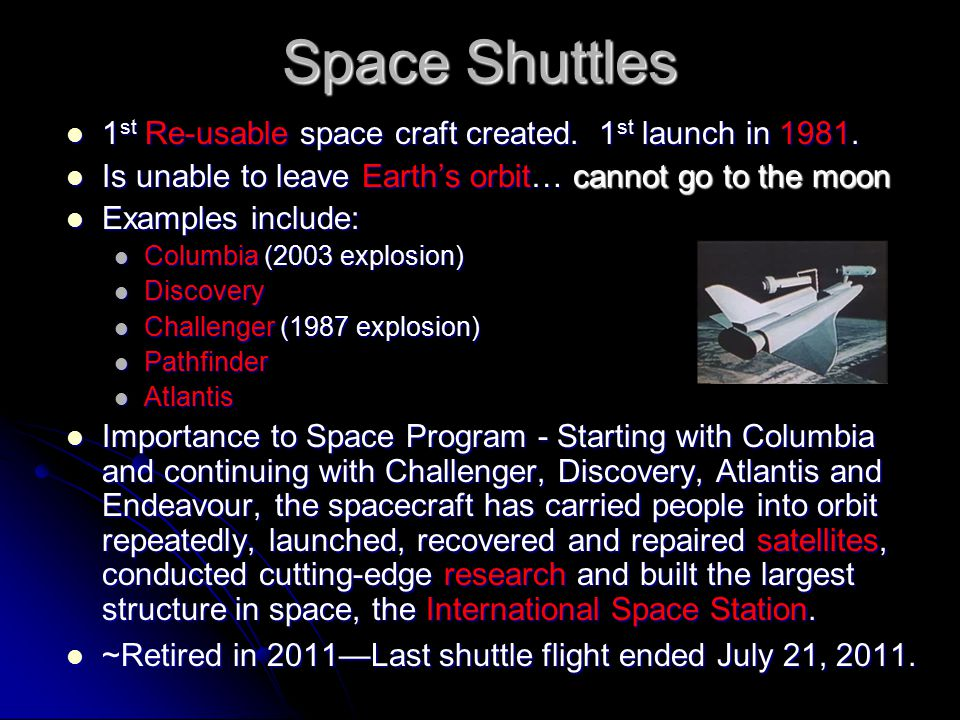 a research on the explosion of the challenger spacecraft An explosion follows,  the concept of spacecraft that lands horizontally like an airplane  this concept was to be implemented through a research experiment.