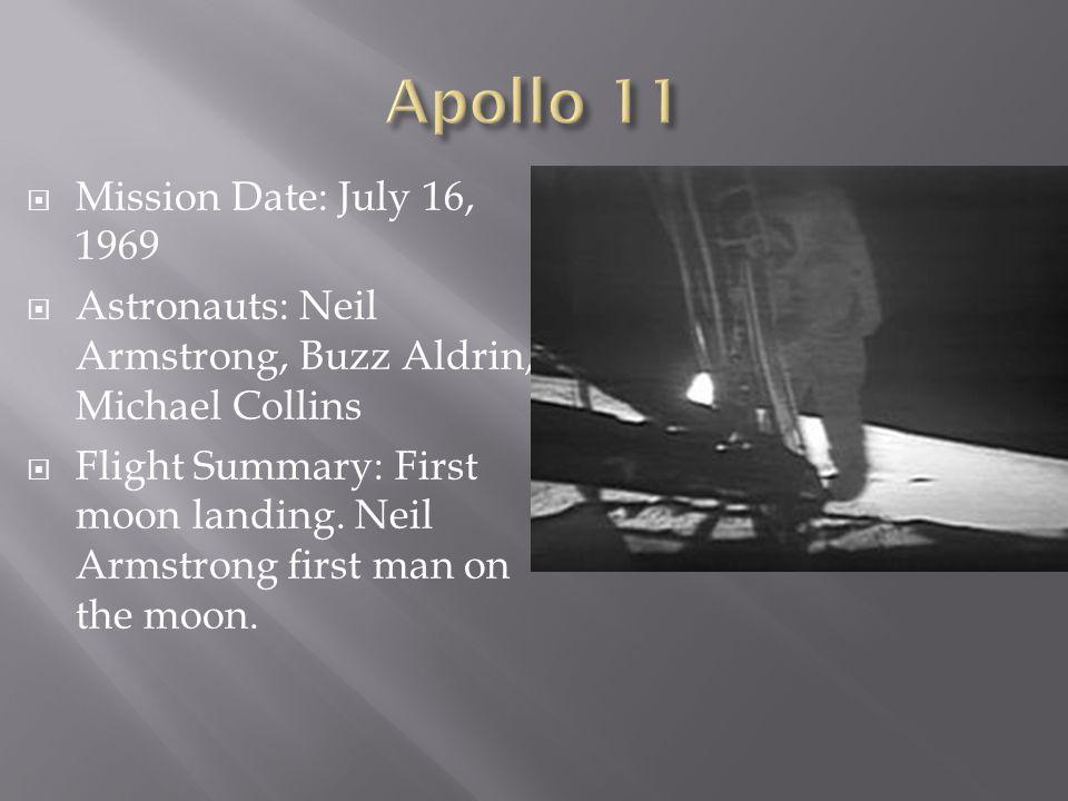 apollo 11 space mission launch date - photo #33