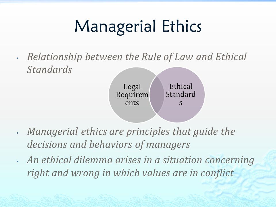 relationship between professional ethics and law