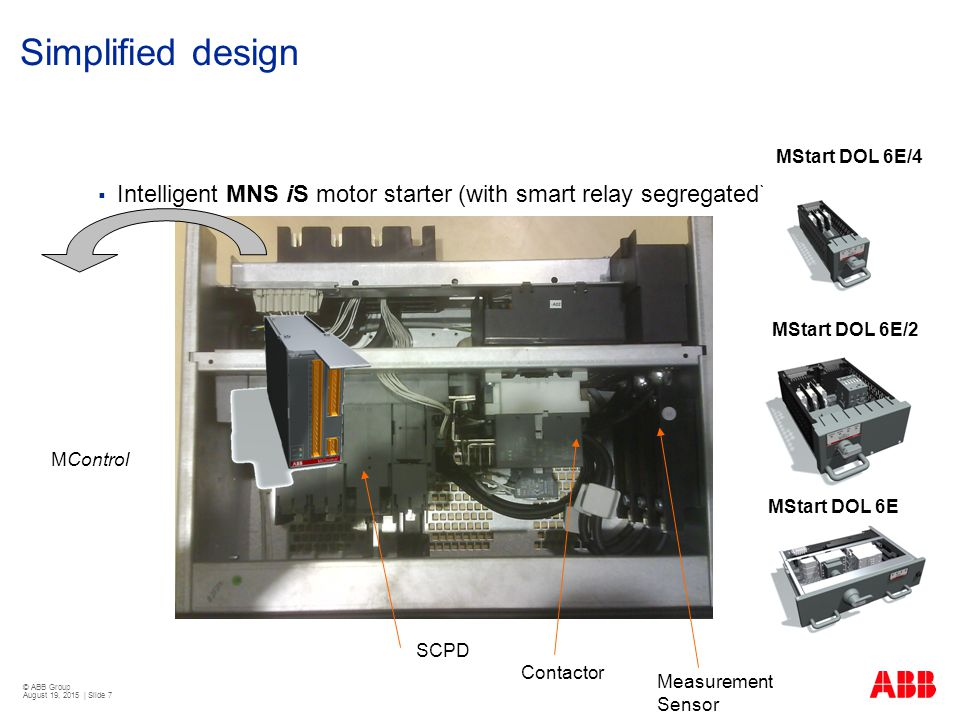 Motor control center mns is with condition monitoring for Abb motor starter selection tool
