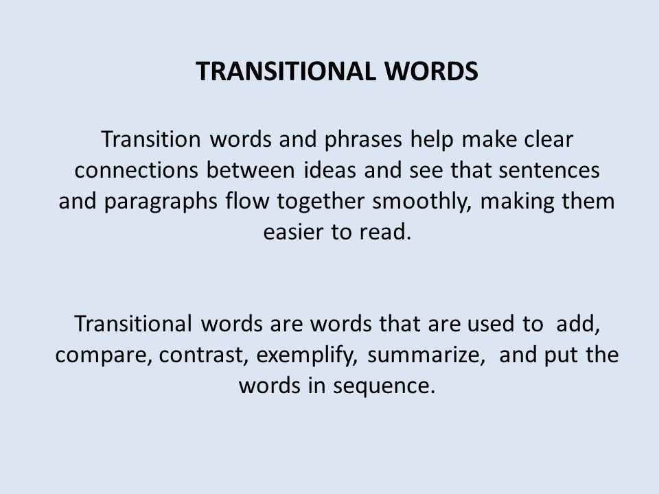 transitional words for essays comparison and contrast For you to have a clue on what exactly are they, here is a list of the most common contrast and compare transition words and phrases that are used in everyday writing and speech contrast: a clear difference.