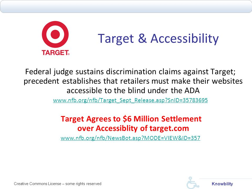 Target & Accessibility