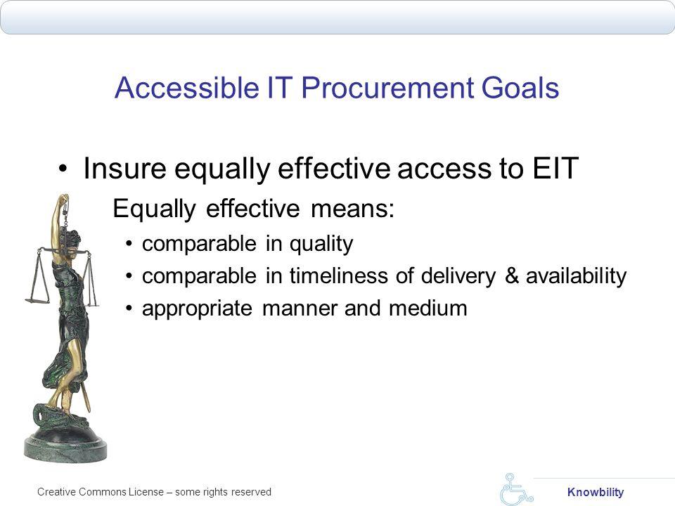 Accessible IT Procurement Goals