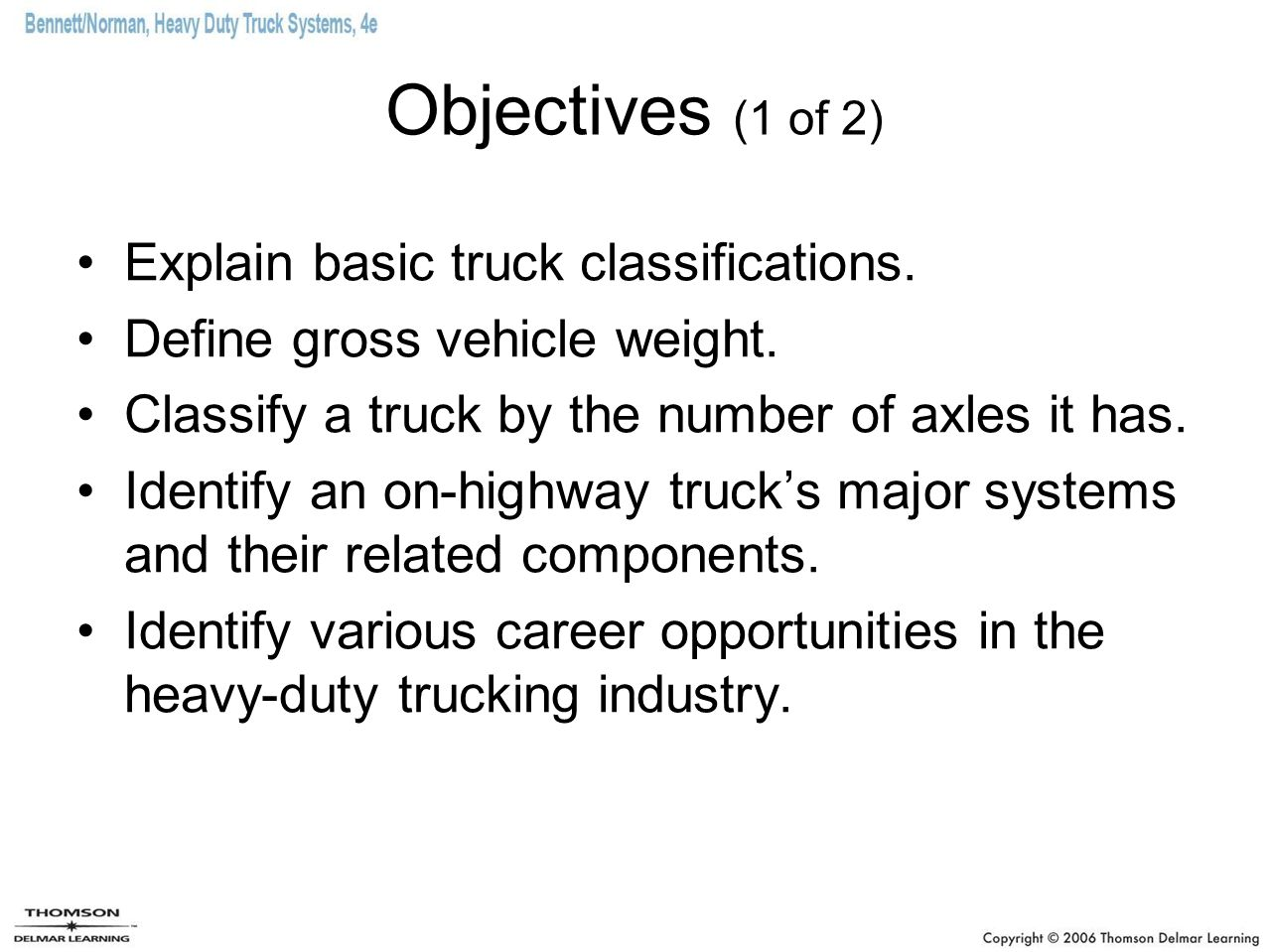 Introduction to servicing heavy duty trucks ppt video online 2 objectives xflitez Images