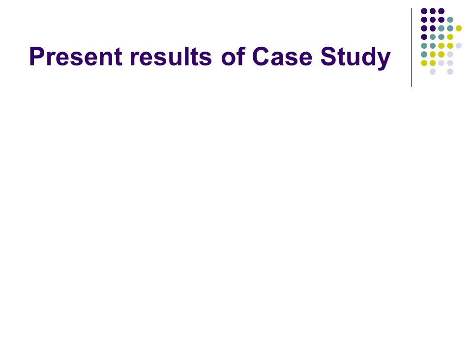 Results on lowes case study from
