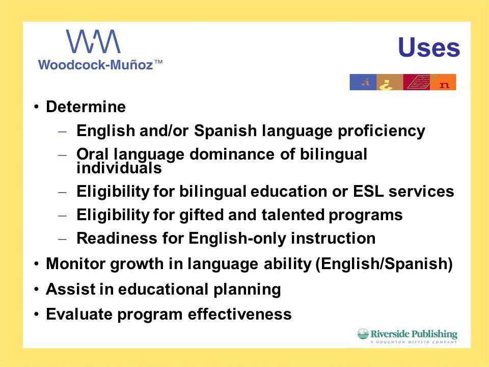 Woodcock-Muñoz Language Survey - ppt video online download