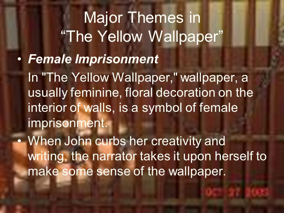 "the symbols within the text in the yellow wallpaper by charlotte gilman The wallpaper in the ""the yellow wallpaper"" by charlotte perkins gilman symbolizes in the story - 3372879."