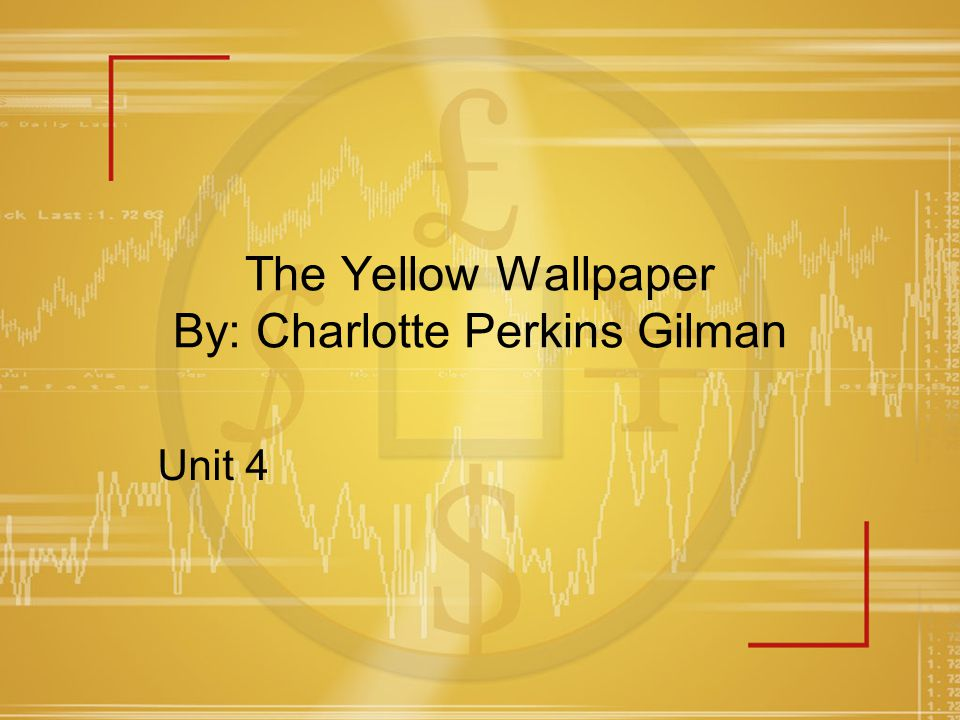 the yellow wallpapercharolette perkins gilman Download thesis statement on the yellow wallpapercharolette perkins gilman in our database or order an original thesis paper that will be written by one of our staff writers and delivered according to the deadline.