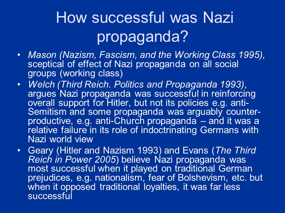 success failure of nazi policies on women A detailed history of women in nazi germany that includes images, quotations and the main events gcse modern world history - nazi germany  the author of nazi women (2001) has suggested that hitler was popular with german women when hitler came to power, almost half of those voting for him were women  nazi racial policy bureau, ten.