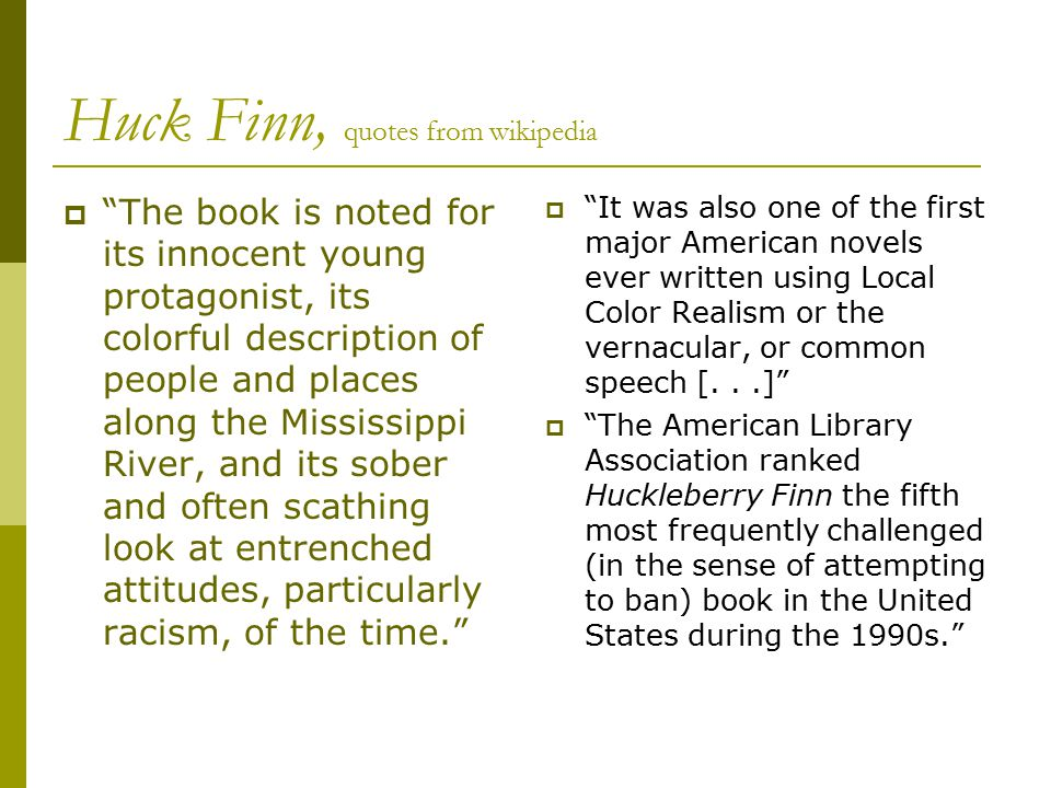 mark twain adventures of huckleberry finn ppt video online  17 huck finn