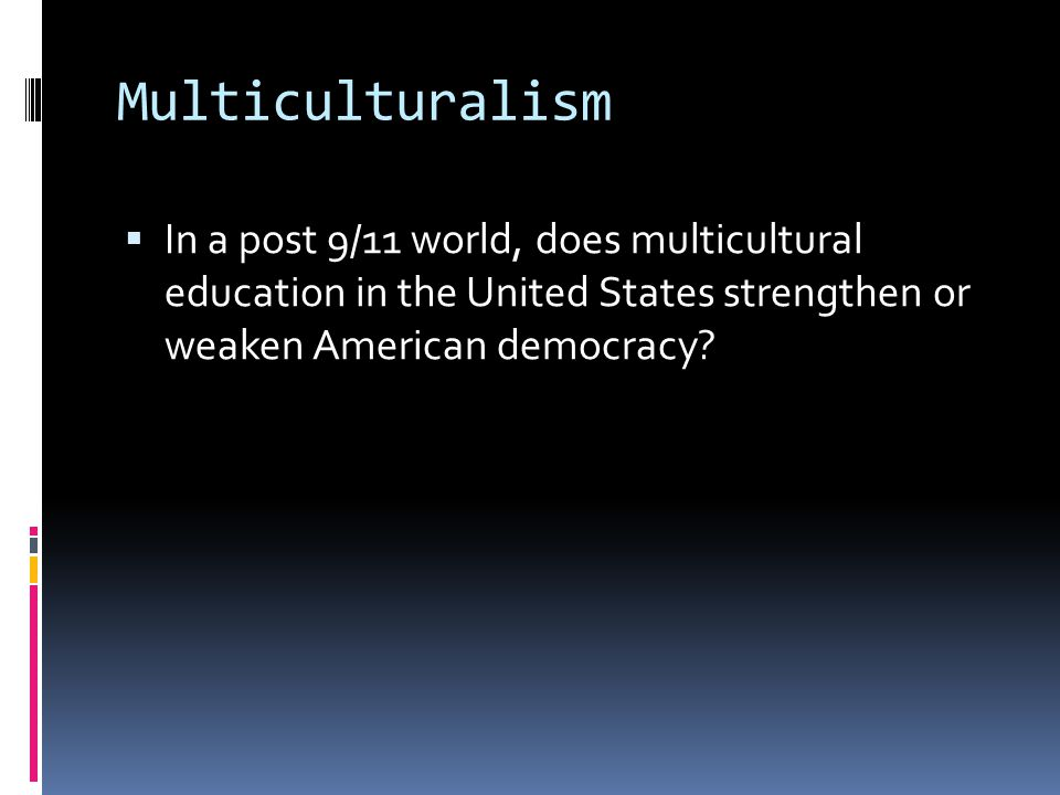 an introduction to the multiculturalism in the society in the united states Multiculturalism in south korea and  1 introduction  multiculturalism is not  multiculturalism differently than western counties such as the united states .