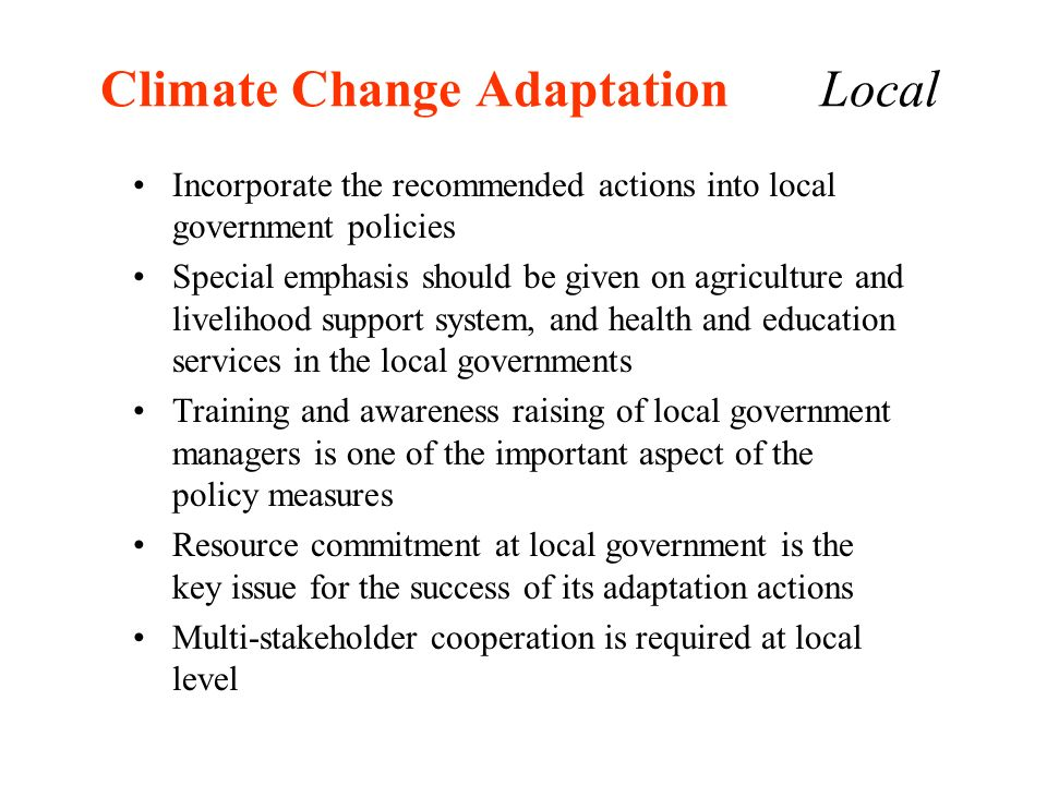 Climate Change Adaptation Local