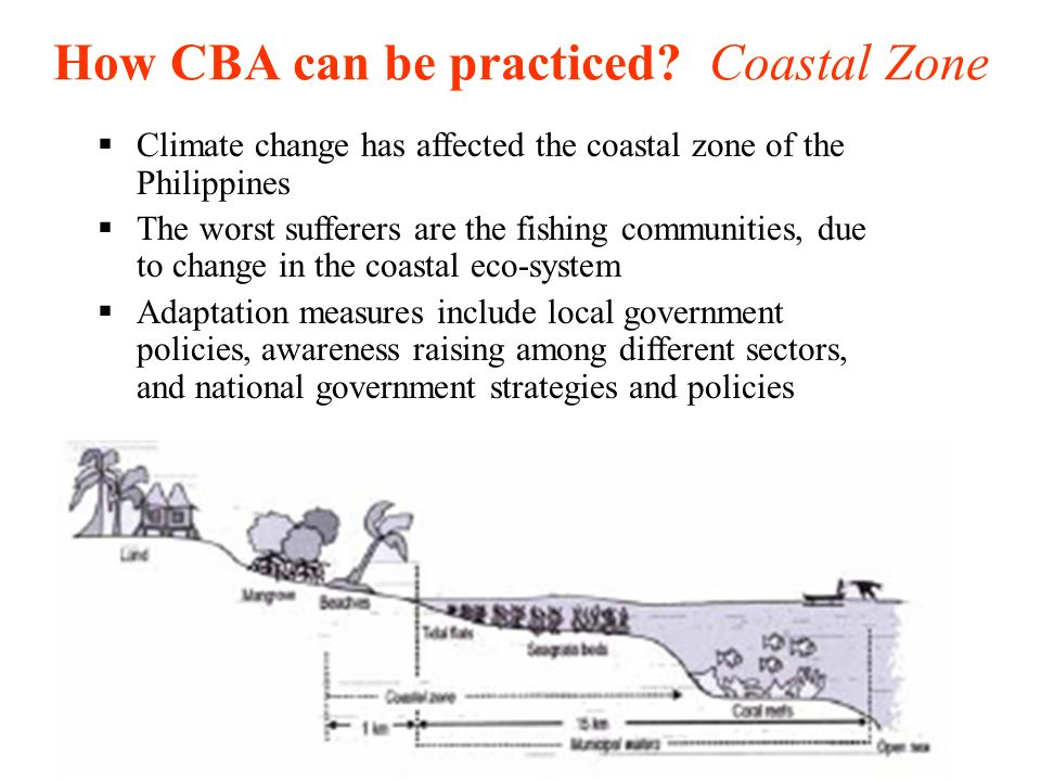 How CBA can be practiced Coastal Zone