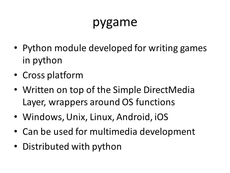 writing a module in python