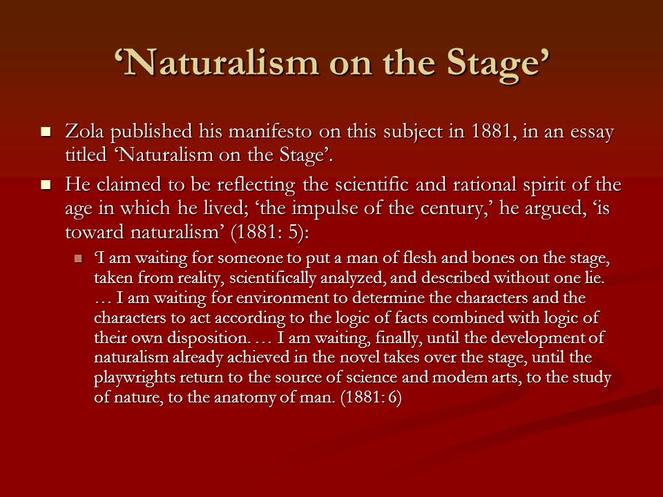 "the forces of naturalism essay This tragedy forces the man to stop and build a fire for is this the perfect essay for you save time and order a discussion of naturalism in ""to build a."