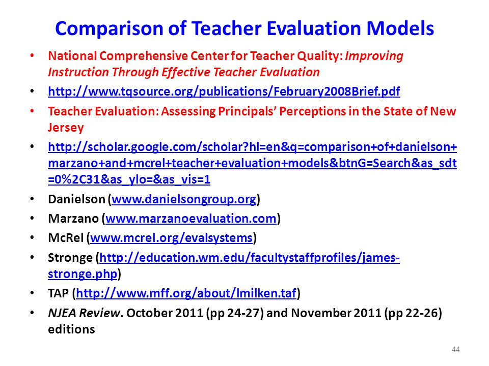 Is Danielson Or Marzano Right For You Ppt Download