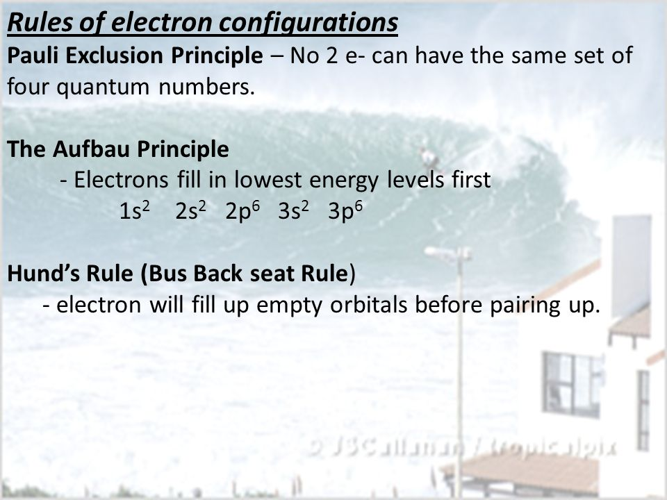 Rules of electron configurations