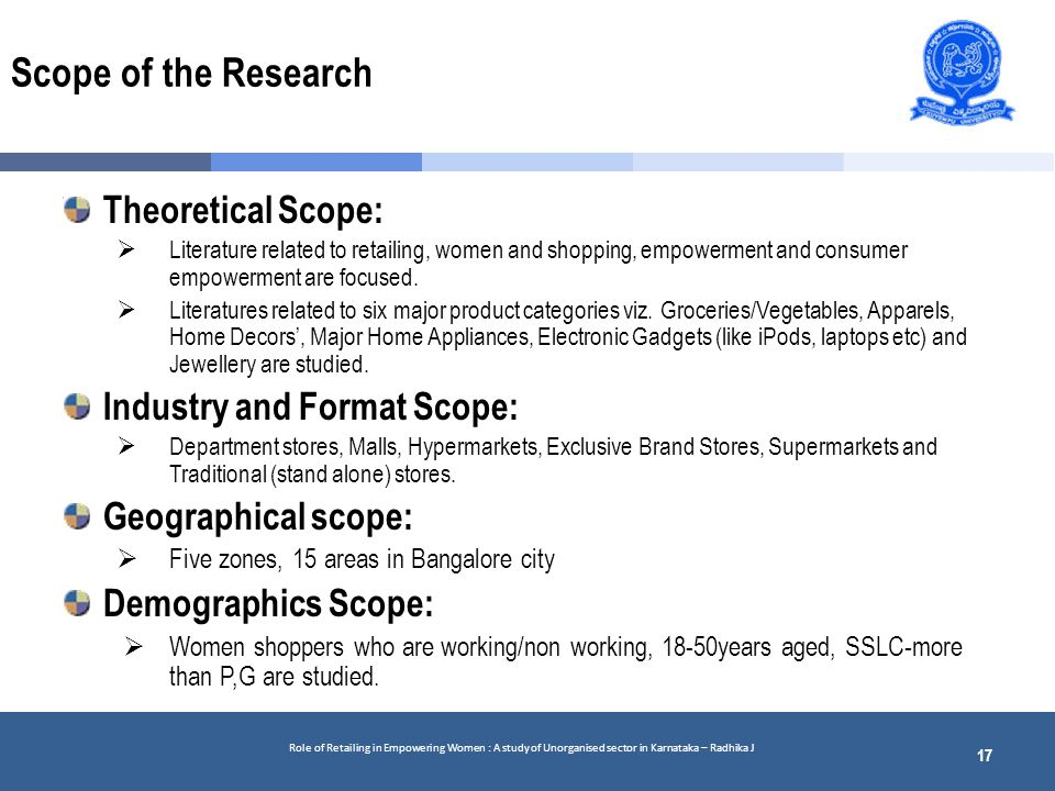 scope of the study Social research institute and consumer researchers from the consumer research and evaluation unit at the victorian mental illness awareness council (vmiac) 2 scope, purpose, limitations the consumer experiences of care project (endorsed by mental health information strategy standing committee- mhissc).