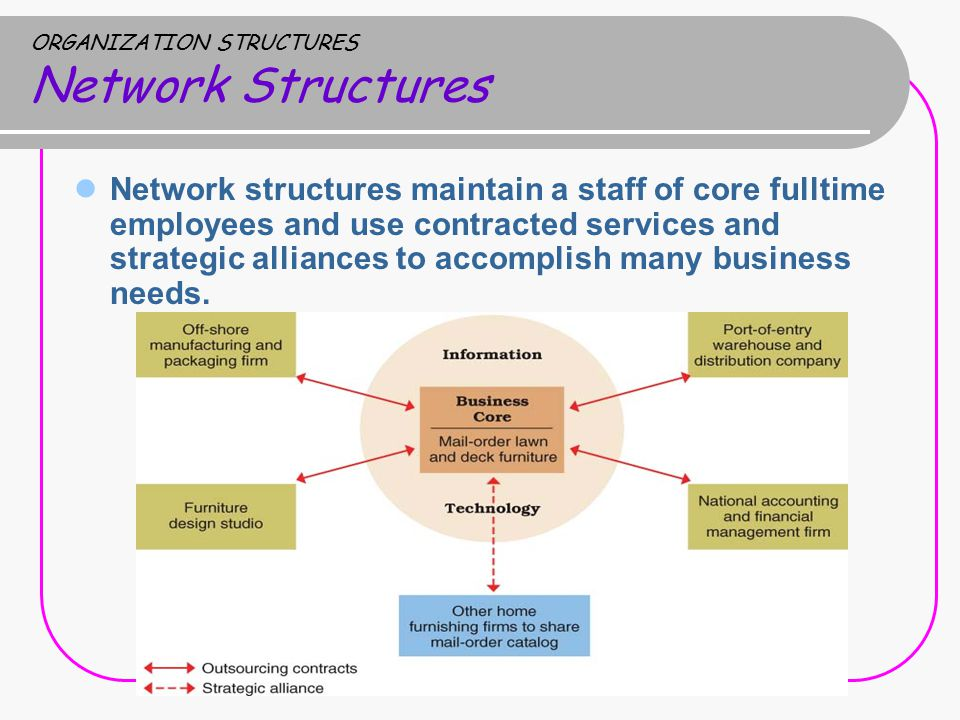 ORGANIZATION STRUCTURES Network Structures