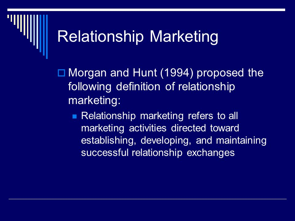 give definition of relationship marketing