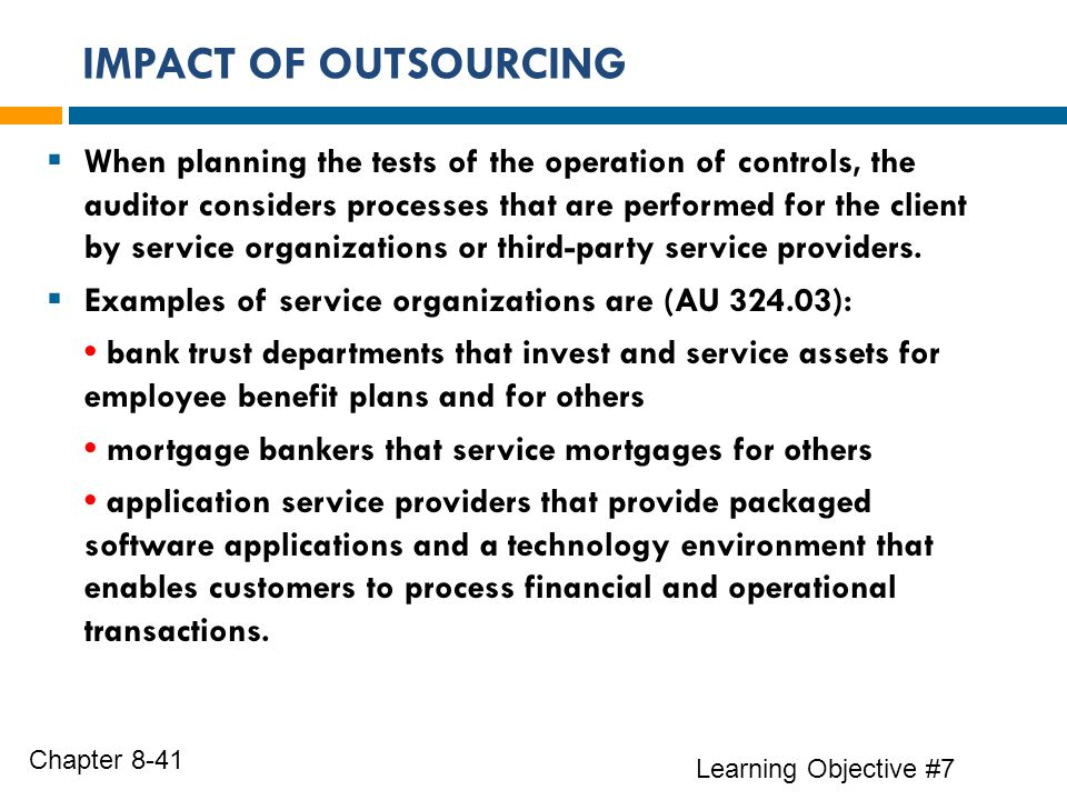 the impact of outsourcing The impact of offshoring on employment: measurement issues and implications  41 the outsourcing of manufacturing and service activities.