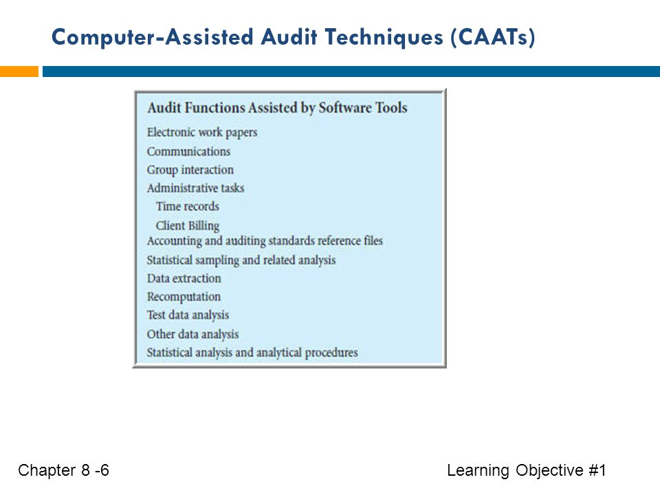 computer assisted audit technique essay Models for individual information technology acceptance: a study on computer  assisted audit tools and techniques and new model determinants.