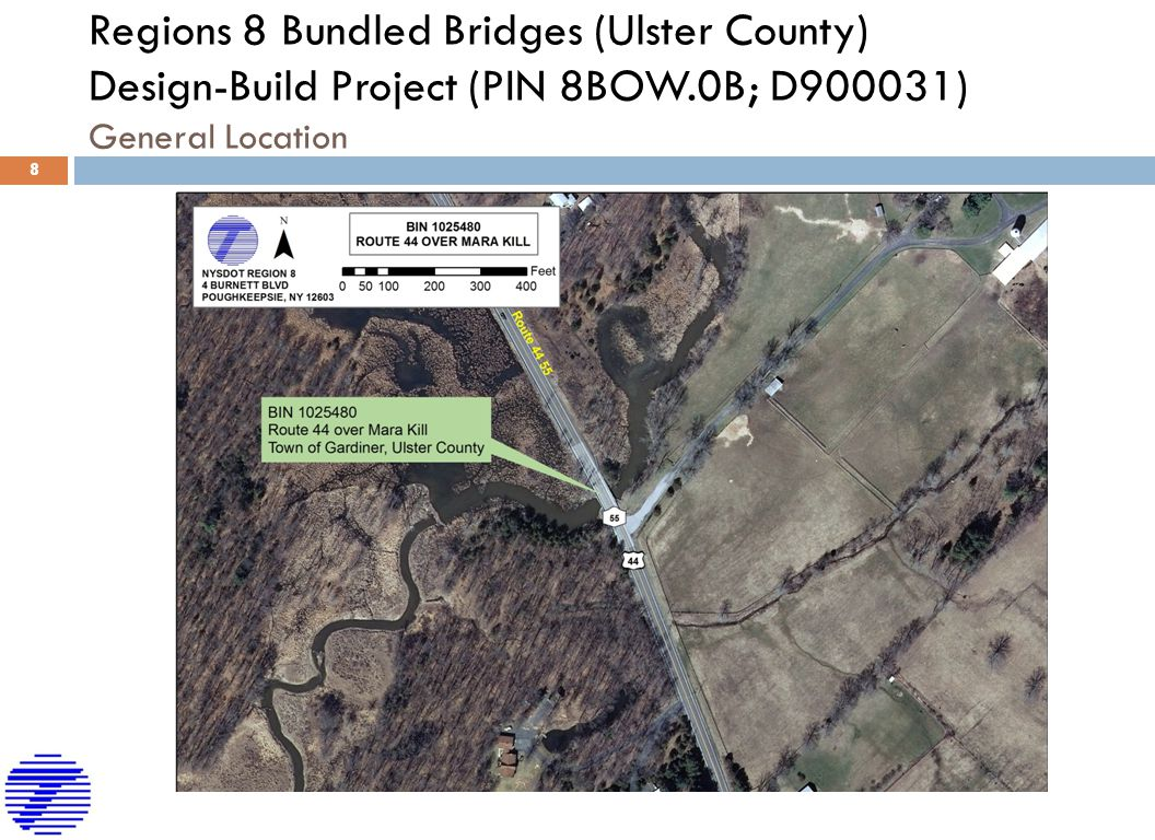 Road Map Of Project%0A   Regions   Bundled Bridges  Ulster County  DesignBuild Project  PIN  BOW   B  D        General Location