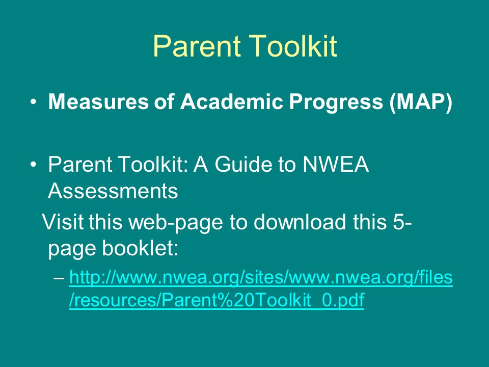 Parent Toolkit Measures of Academic Progress (MAP)