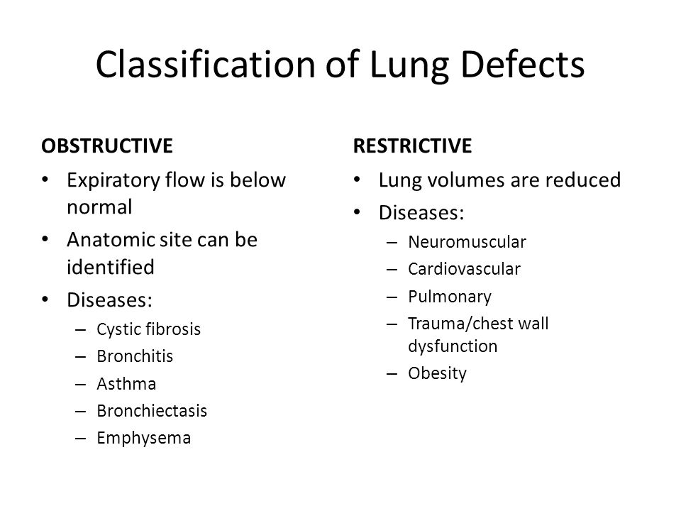 Classification of Lung Defects