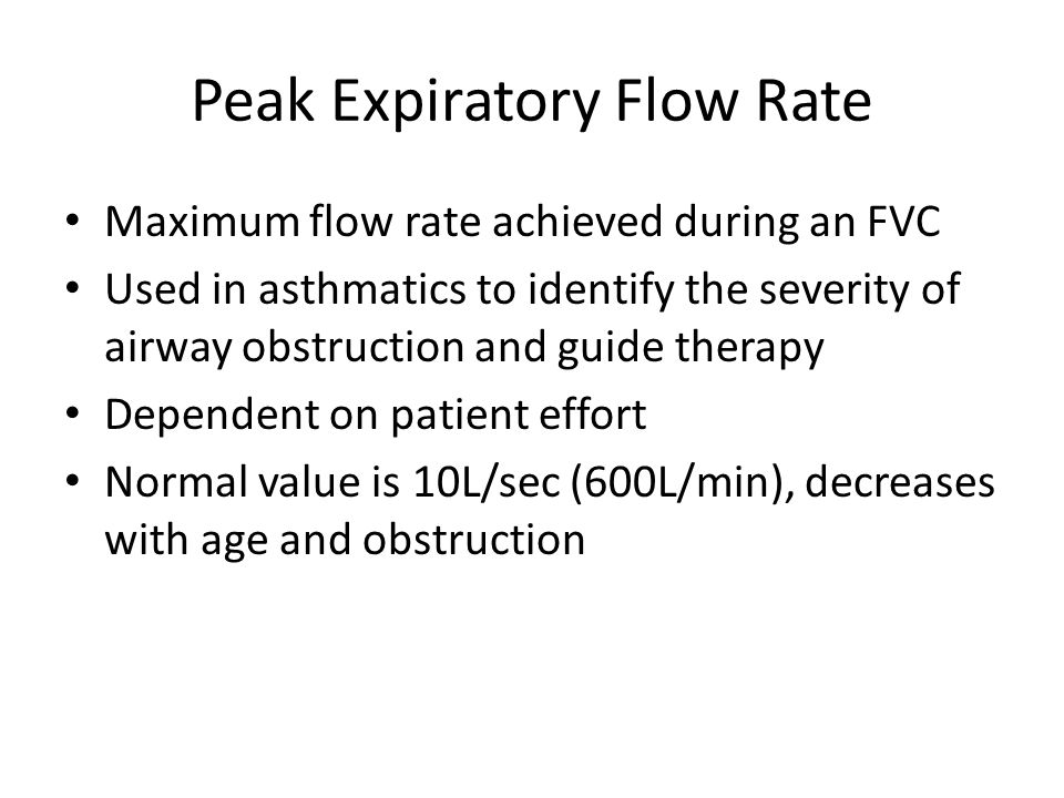 Peak Expiratory Flow Rate
