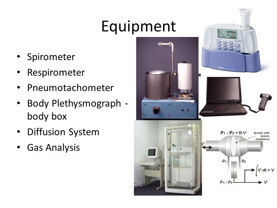 Equipment Spirometer Respirometer Pneumotachometer