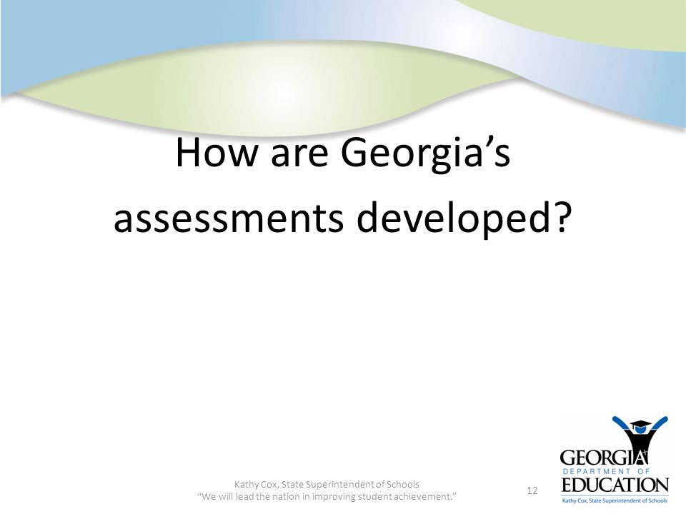 How are Georgia's assessments developed