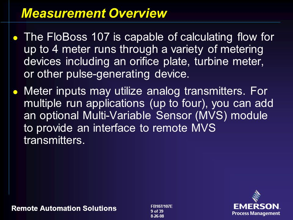 Measurement+Overview flobosstm 107 107e flow manager overview ppt video online download Ethernet Wiring Diagram at highcare.asia