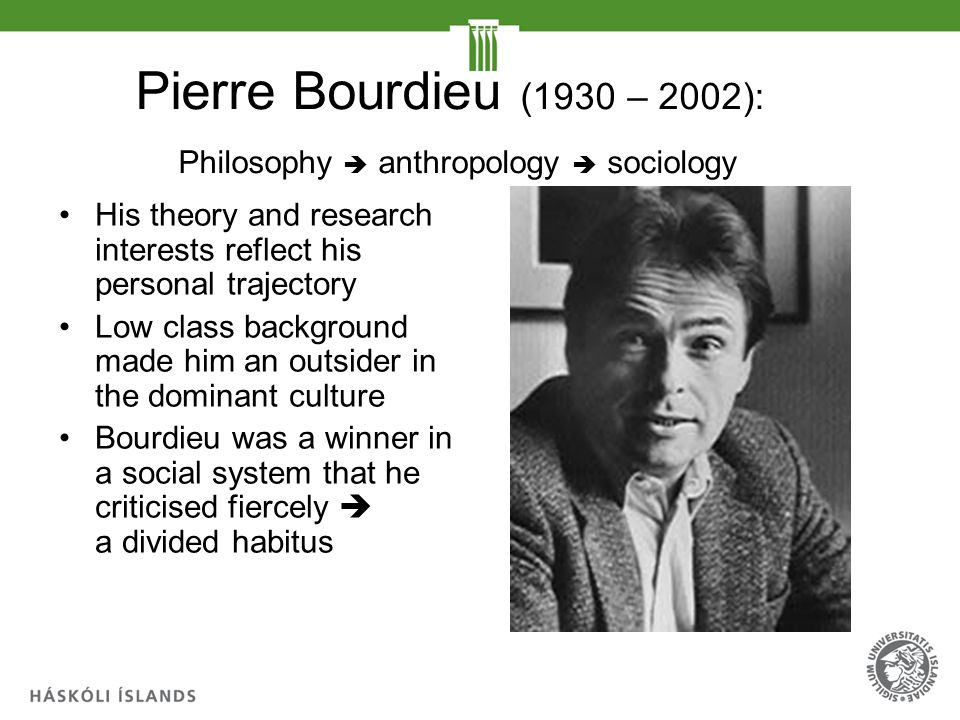 The relevance of Pierre Bourdieu within guidance - ppt ...
