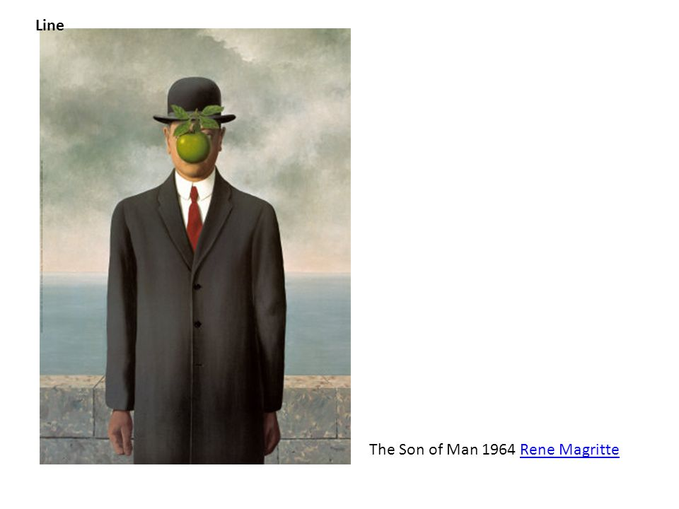 Line The Son of Man 1964 Rene Magritte