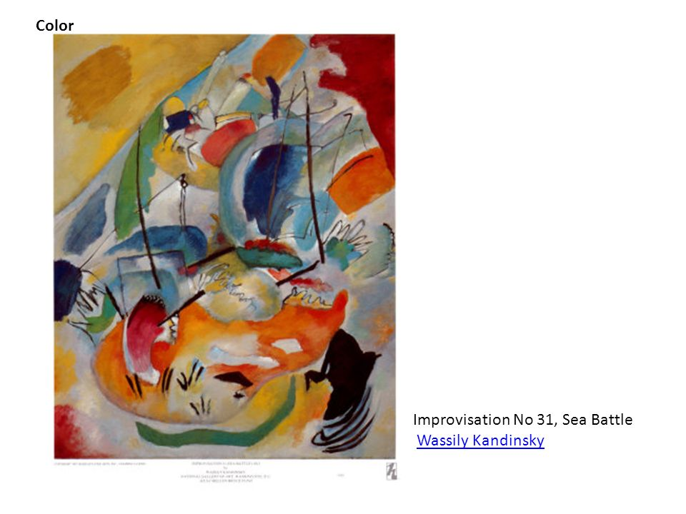 Color Improvisation No 31, Sea Battle Wassily Kandinsky