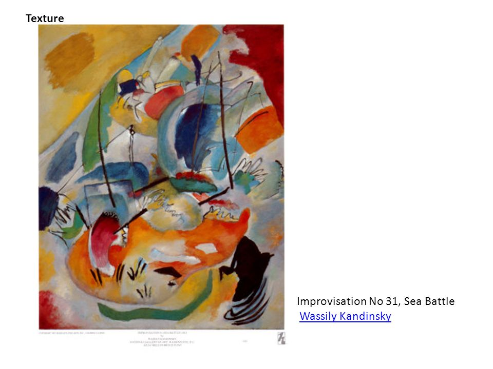 Texture Improvisation No 31, Sea Battle Wassily Kandinsky