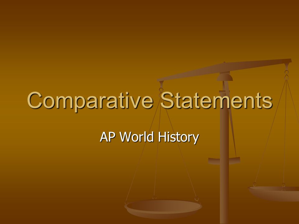 ap world history comparative essay ppt