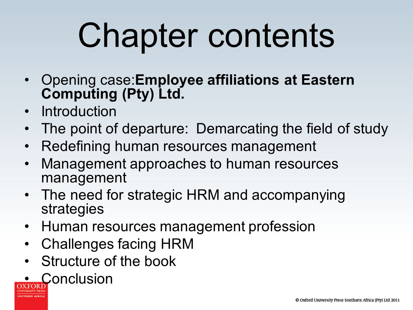 PRDV401: Introduction to Human Resources Management